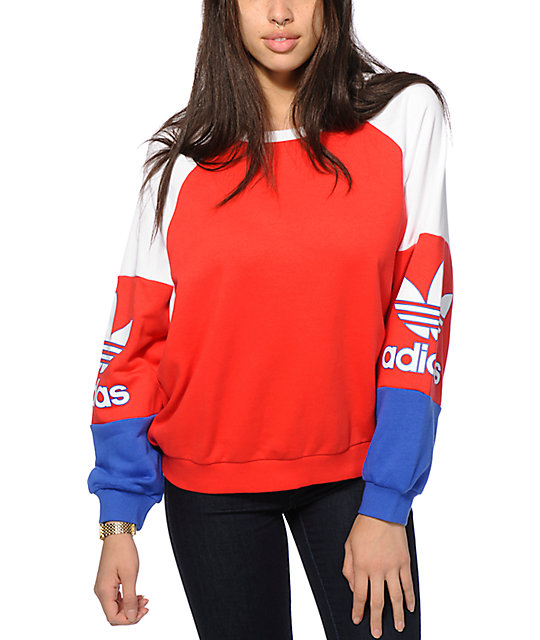adidas pullover black red blue