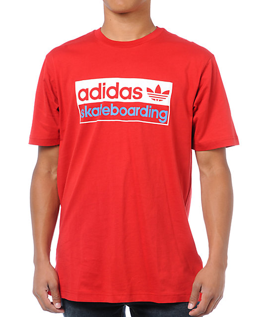 adidas Core Red T-Shirt