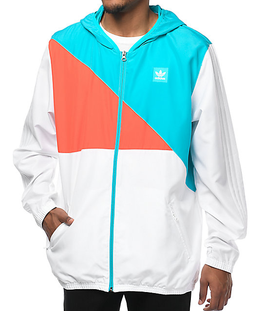 adidas Courtside White Windbreaker Jacket at Zumiez : PDP