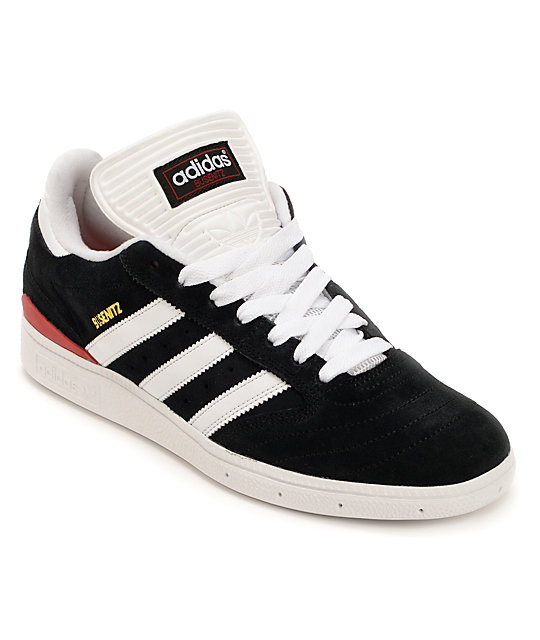 adidas Dennis Busenitz Black & University Red Skate Shoes