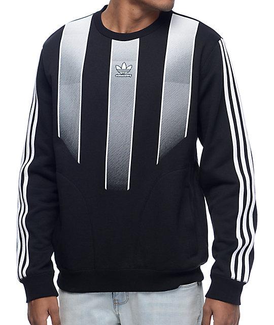 adidas EQT Black Crew Neck Sweatshirt at Zumiez : PDP