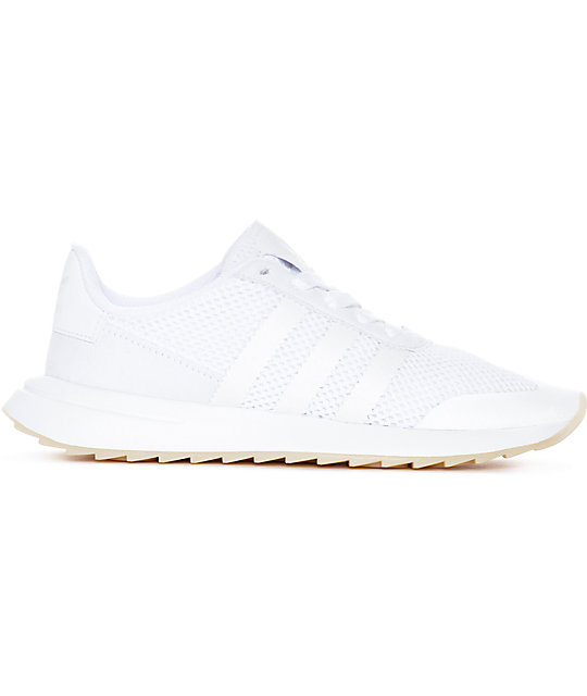 huge discount 143e0 e04db adidas Flashback All White Womens Shoes Zumiez