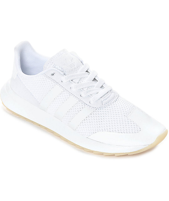adidas flashback all white womens shoes at zumiez pdp