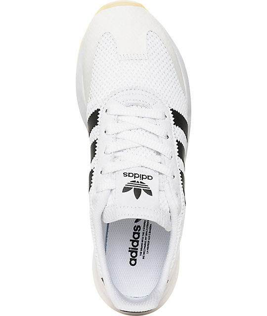 hot sale online 942eb 3857e adidas Flashback White  Black Shoes Zumiez