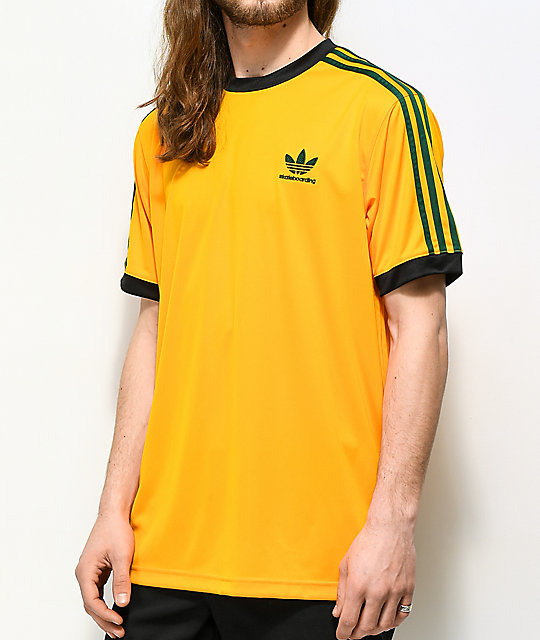 Adidas Gold & Black Skate Jersey by Adidas