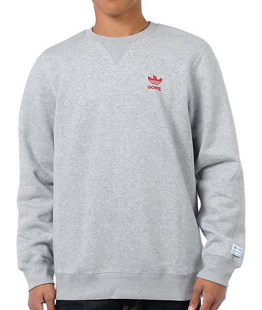 adidas Gonz Grey Crew Neck Sweatshirt