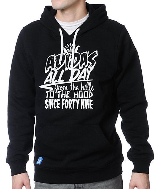 adidas Hills 2 Hood Black Pullover Hoodie