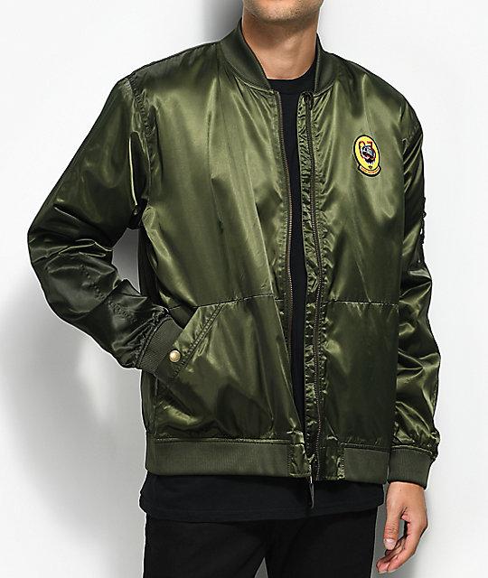 adidas MA1 Green Bomber Jacket | Zumiez