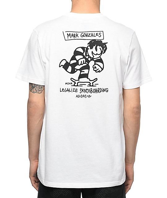 adidas MEKA Push White T-Shirt