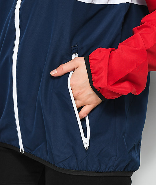 adidas MI Skate Red, White & Blue Windbreaker Jacket