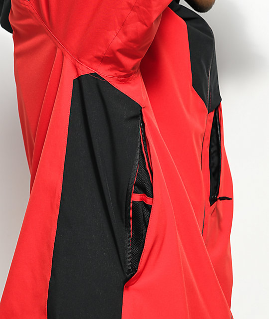 adidas Major Stretchin It Red & Black 20k Snowboard Jacket