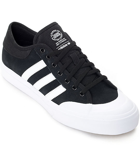 adidas Matchcourt ADV Black & White Suede Shoes