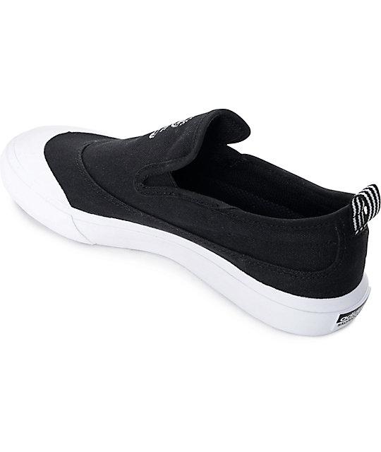 adidas matchcourt black white slip on shoes zumiez