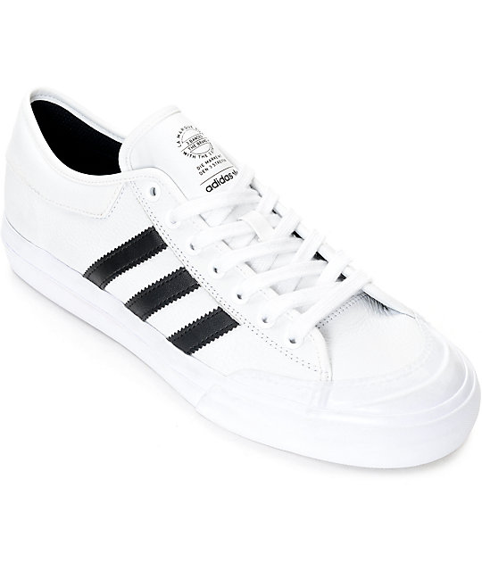 adidas leather shoes white