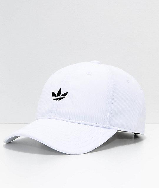 b83e20fa Shoptagr   Adidas Originals Relaxed Modern White Strapback Hat by Adidas
