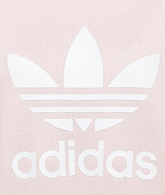 Adidas Pale Pink Trefoil Tee Dress Zumiez