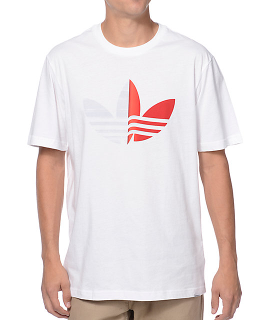 adidas Peel Back Logo White T-Shirt