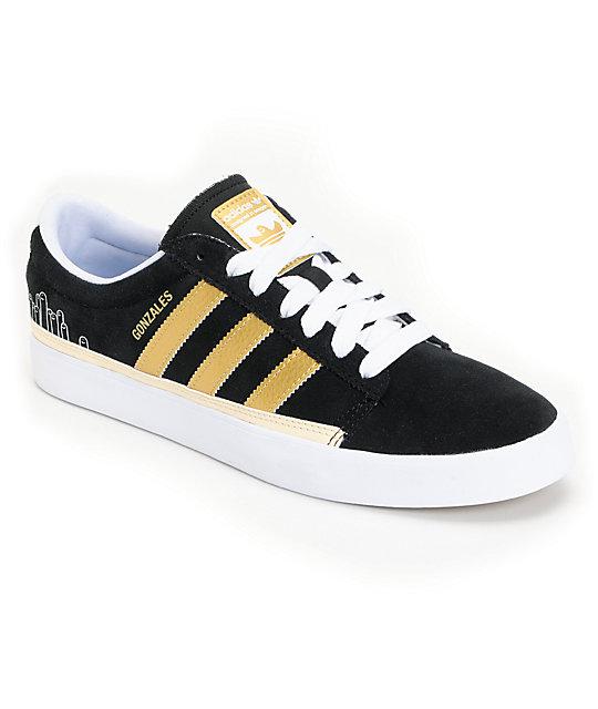 adidas Rayado Low Black & Gold Skate Shoes