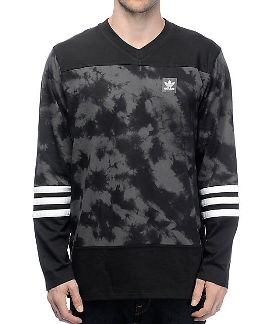 adidas Rodge Crystal Black Wash Long Sleeve Jersey