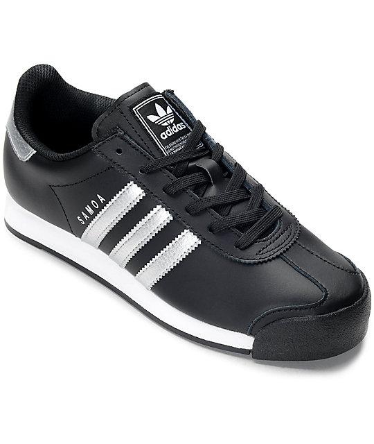 adidas samoa black silver s shoes zumiez