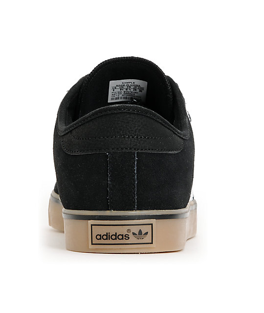 adidas Seeley Black & Gum Suede Shoes