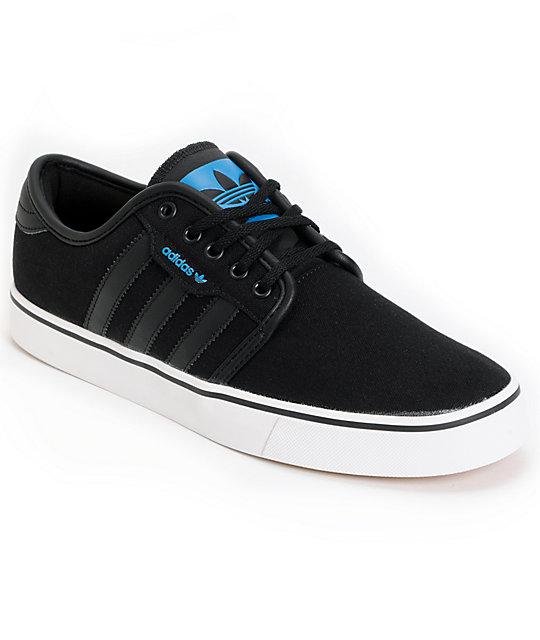 adidas Seeley Black Canvas Skate Shoes