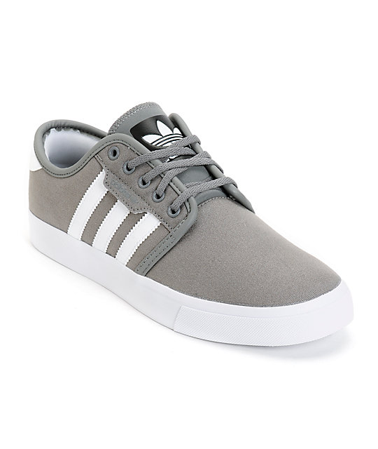 adidas Seeley Grey Canvas Skate Shoes