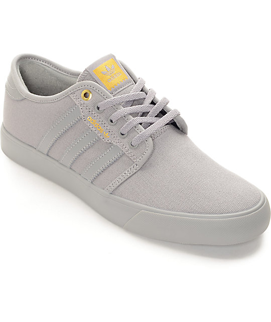 adidas Seeley Mono Grey Canvas Skate Shoes