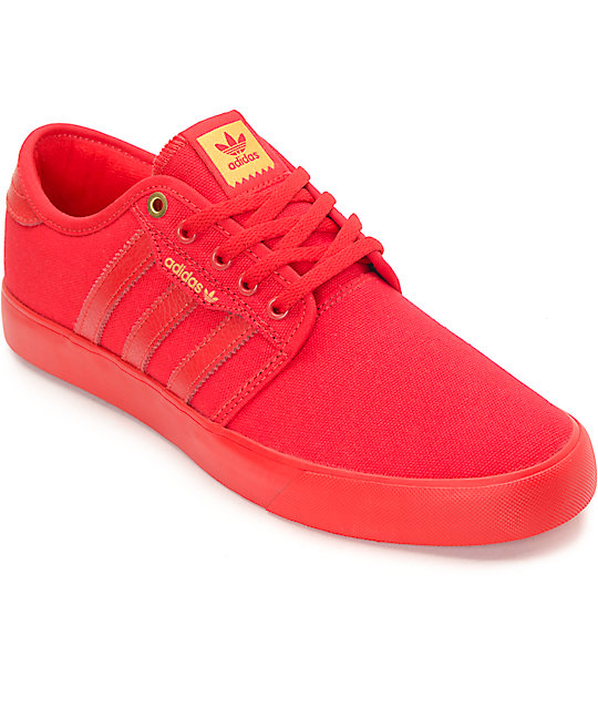 adidas Seeley Mono Scarlet Red Shoes at Zumiez : PDP