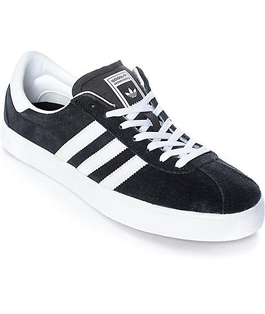 adidas skate adv black white gum shoes