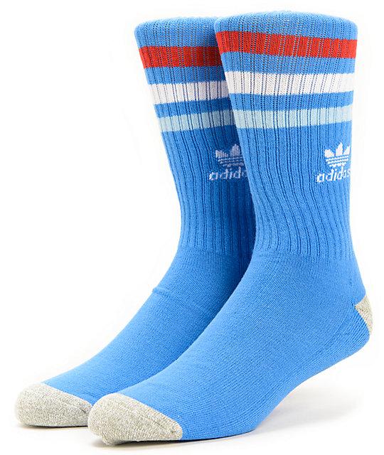 adidas Skate Copa Blue & Scarlet Red Crew Socks
