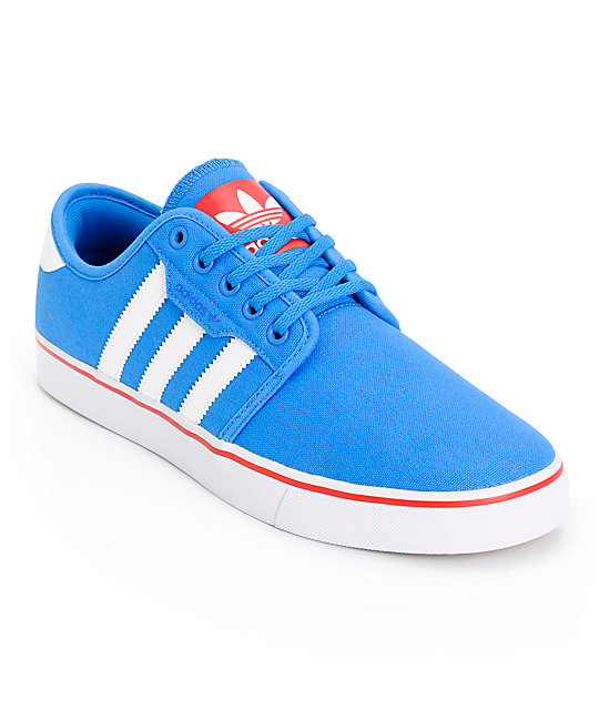 adidas skate copa seeley blue white shoes