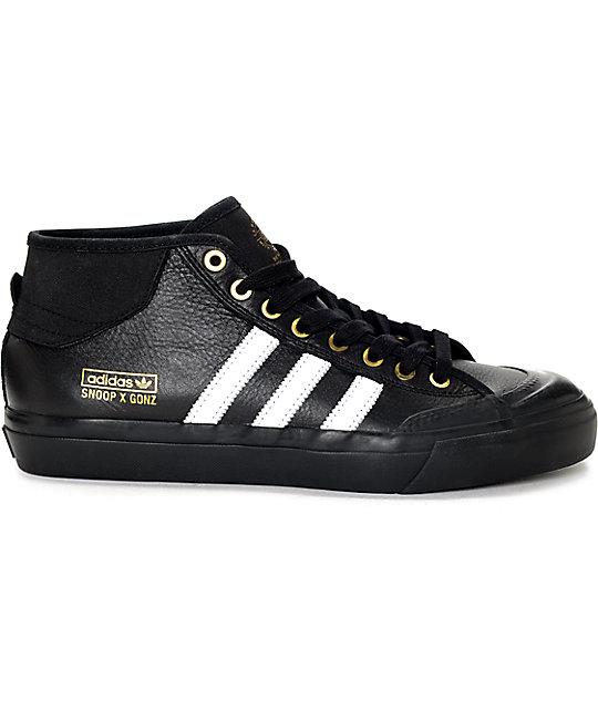 adidas Snoop x Gonz LA Stories Matchcourt Mid Black Shoes