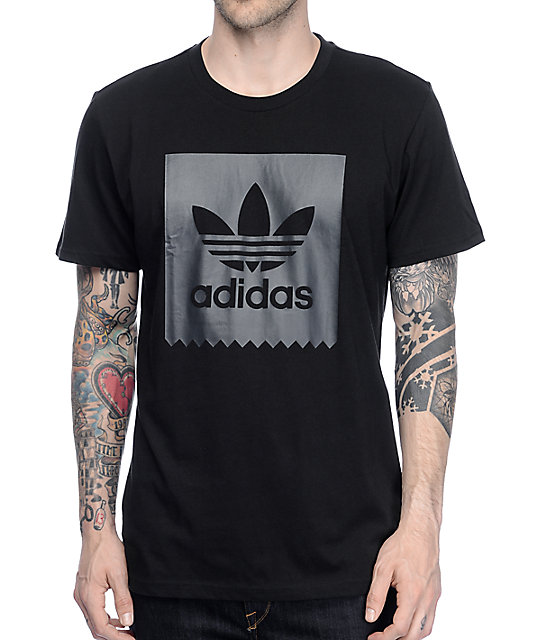 Adidas solid blackbird black t shirt at zumiez pdp for Adidas lotus t shirt