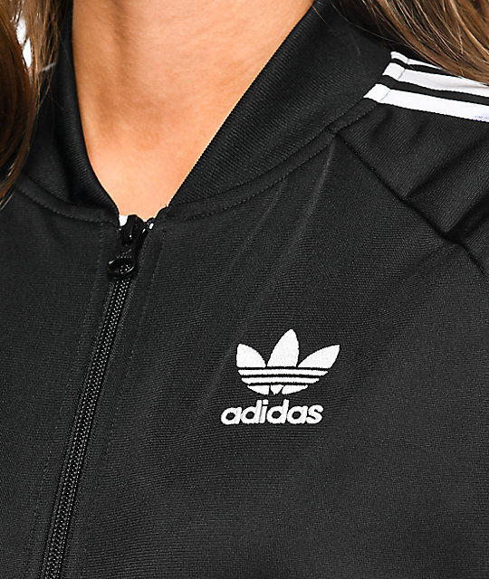 adidas Supergirl Black Track Jacket