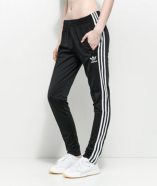 adidas pants women. adidas superstar black track pants women m