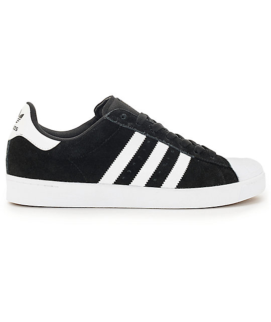 adidas Superstar Vulc ADV Black & White Shoes