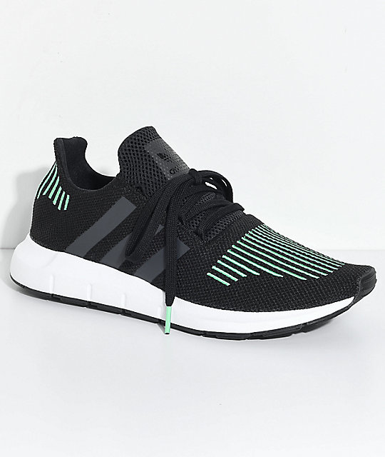 adidas swift run utility black amp white shoes zumiez