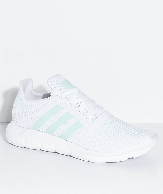 adidas shoes. adidas swift run white, greone \u0026 ice mint shoes