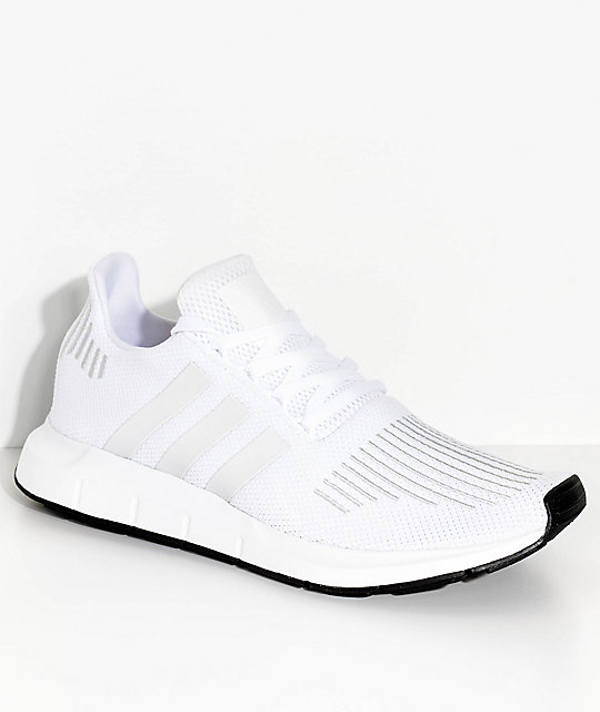 adidas Swift Run White and Crystal Shoes