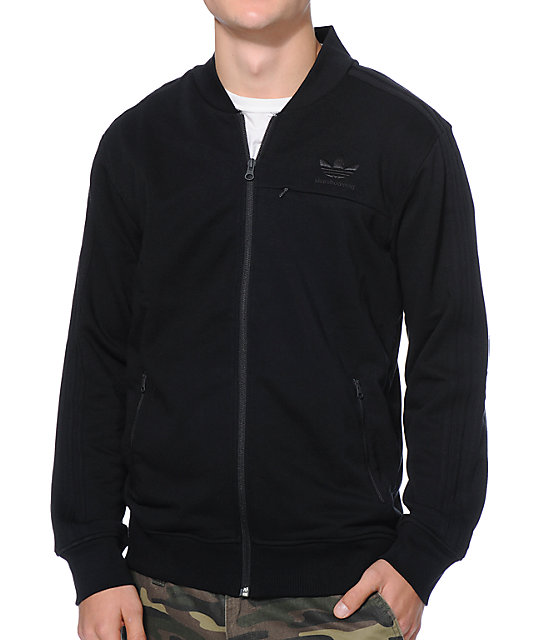 adidas Team Black Zip Up Track Jacket