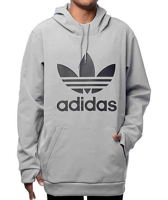 adidas Team Tech Fleece Grey Hoodie