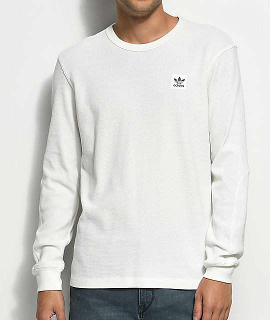 adidas long sleeve. adidas thermal white long sleeve t-shirt w
