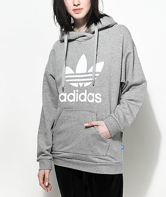 Grey Adidas Sweatshirt Womens