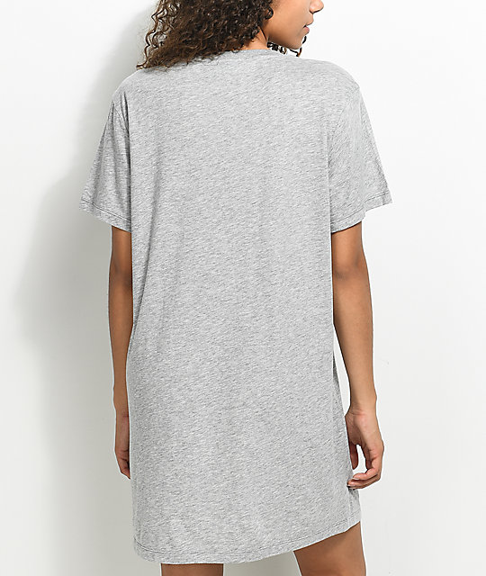 adidas Trefoil Heather Grey T-Shirt Dress