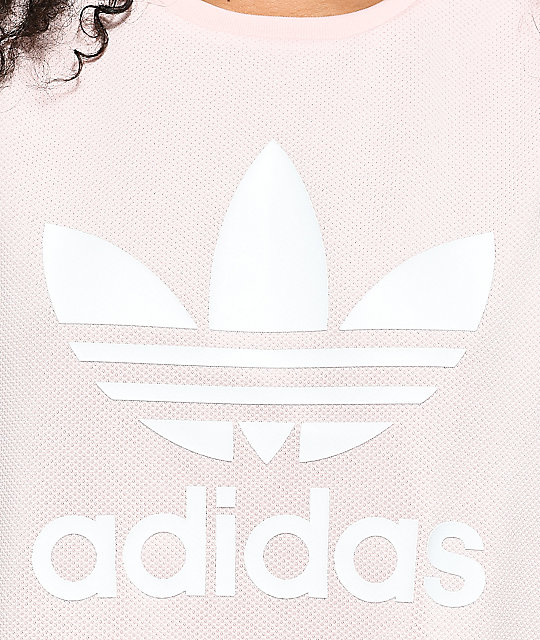 adidas Trefoil Oversized Ice Pink Tank Top