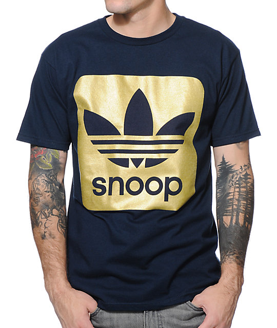 adidas X Snoop Navy and Gold Foil T-Shirt