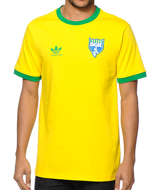 adidas x DGK Skate Copa Brazil Rodrigo TX Yellow Jersey