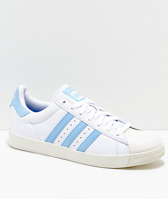 Adidas X Krooked Superstar Vulc Chalk & Blue Shoes by Adidas