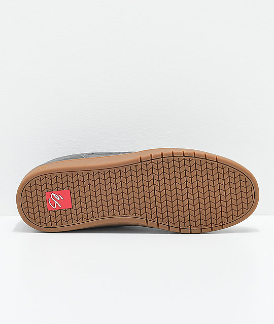 eS Accel Slim Grey & Gum Suede Skate Shoes